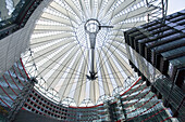 1-6, 20th Century, Angle, Architect, Architects, Architecture, Berlin, Ceiling, Ceilings, Color, Colour, Covered, Daytime, Design, Designing, Dome, Domes, Europe, Exterior, Futuristic, Germany, Glass, Helmut Jahn, Horizontal, Landmark, Landmarks, Lens, Me