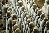 Tomb of First Emperor Qinshihuang's Terracotta warriors, Xi'an. Shaanxi, China