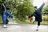 Chinese Kung fu. Wudang Shan. Hubei. China.