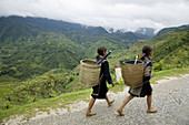 Ethnic people in Sapa Valley. Vietnam