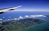 Aerial View from Airplane, Near Auckland, New Zealand