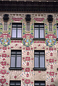 Austria, Vienna, Facade, Majolika-haus, Linke Wienzeile n. 40, Otto Wagner, Art nouveau
