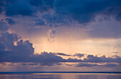 Rain Clouds over Ocean, Peleliu Island, Micronesia, Palau