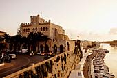 Town Hall above the Marina Ciutadella, Minorca, Balearic Islands, Spain