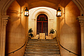 Placa d´es Born, town hall entrance, Ciutadella, Minorca, Balearic Islands, Spain