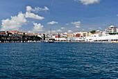 Es Castell harbour at Port de Mao, Port Mahon, Minorca, Balearic Islands, Spain