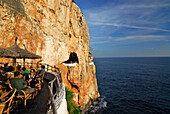 Bar and Disco in the Cova d´en Xoroi in the cliffs near Cala en Porter, Minorca, Balearic Islands, Spain