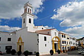 Town centre and church, Ferreries, Minorca, Balearic Islands, Spain