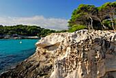 Cala en Turqueta, rocks with strange shape caused by erosion, Minorca, Balearic Islands, Spain
