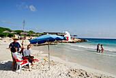 Binibequer Vell, sandy beach, Minorca, Balearic Islands, Spain
