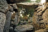 Prehistoric Talati de Dalt, west of Mao, Minorca, Balearic Islands, Spain