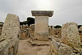 Prehistoric monument at Torralba d´en Salor, Minorca, Balearic Islands, Spain