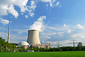 Isar II Nuclear Power Plant, Niederaichbach near Landshut, Lower Bavaria, Germany