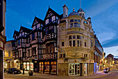 Shrewsbury, High Street, timber-framed building, typical buildings, Shropshire, UK