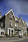 Ambleside, 19th century town, Compston Road, typical buildings, Lake District, Cumbria, UK