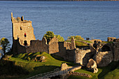 Loch Ness Lake, Urquhart Castle, 13th-16th centuries, Urquhart Bay, Highland, Scotland, UK