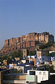India, Rajasthan, Jodhpur, the blue city, Mehrangarh fortress