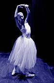 Painted ballet dancer