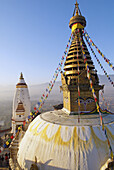 Nepal. Kathmandu valley. Swayambunath stupa.