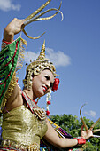 Florida, Homestead, Redlands, Fruit and Spice Park, Asian Culture Festival, Manorah Thai Dancer, Thailand, folk art, gilded crown, embroidery, fingernails, costume, woman, performer