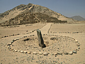 Caral archaeological site. Peru