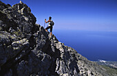 Trekking at Oros Fengari (Mount Moon), Samothrace island. Northern Aegean Sea, Greece