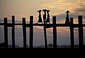 Asia, Bridge, Burma, Color, Colour, Myanmar, Teak, Travel, Travels, World locations, World travel, V58-671464, agefotostock
