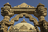 Stone carved by hand at a religious temple, osian, India