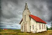 Church as warehouse. South Iceland