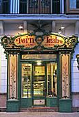 Confectioner's shop Café Forn des Teatre at Placa Weyler, Palma, Mallorca, Balearic Islands, Spain