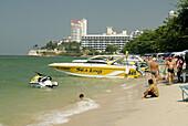Thailand, Pattaya, Asia, South East Asia, Beach Road, beach, sea activities, boat, sand