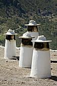 Chimneys, Pampaneira in Barranco del Poqueira, Alpujarras. Granada province, Andalucia, Spain