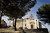Castle of Fatetar and Chapel of Santiago, Espera. Pueblos Blancos (white towns), Cadiz province, Andalucia, Spain