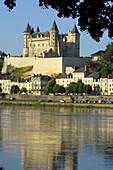 Loire River and Saumur Castle Chateau de Saumur  Maine-et-Loire  Saumur  Loire Valley  France