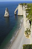 Falaise daval  Sea Cliff  Étretat  Côte dAlbatre  Haute-Normandie  Normandy  France