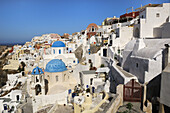 Blue, Churches, Domed, Greece, Island, Oia, Oía, Santorini, Thera, Thira, Town, N45-764410, agefotostock