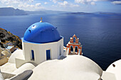 Blue, Church, Crater, Domed, Greece, Island, Of, Santorini, Thera, Thira, N45-764419, agefotostock