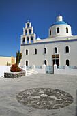 Blue, Church, Domed, Greece, Island, Oia, Oía, Santorini, Thera, Thira, Town, N45-764421, agefotostock