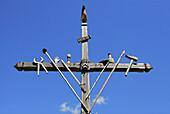 Cross, Saint-Véran, Queyras Regional Natural Park. Hautes-Alpes, France