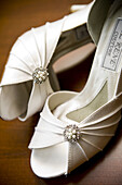 Accessories, Accessory, Close up, Close-up, Closeup, Color, Colour, Dressed up, Elegance, Elegant, Fashion, Feminine, Footgear, Footwear, indoor, indoors, interior, marriage, matrimony, Pair, Pairs, Shoe, Shoes, Still life, Style, wedding, weddings, Well-