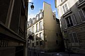 France. Paris. Street on Ile St_Louis (St_Louis Island)