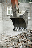 Destruction of a house.