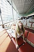 30 year old woman doing yoga