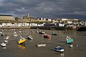France, Normandy, Granville: port at low tide