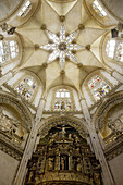 Dome of Chapel of the Condestable in Flamboyant Gothic style, cathedral of Burgos. Castilla-Leon, Spain