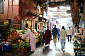 People at the Souk at the Medina of Marrakesh, South Morocco, Morocco, Africa
