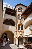 Traboule , courtyard in old City Center, Vieux Lyon, UNESCO World Heritage Lyon, Rhone Alps,  France