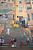 Wall Painting  , Fresco in Croix Rousse district , Lyon, Rhone Alps,  France