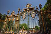 Wrought iron entrance door of Parc de la Tete D Or ,  Lyon, Rhone Alps,   France