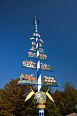Maypole on the Viktualienmarkt in  Munich , Germany